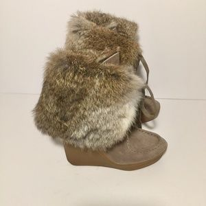 Coach Scout Sahara Rabbit Fur Boots